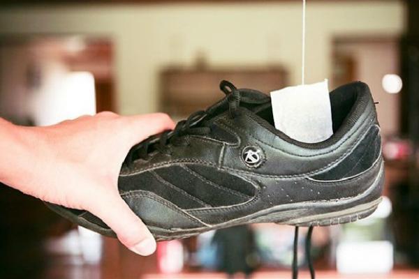 Trà Lipton khử mùi cho giày da